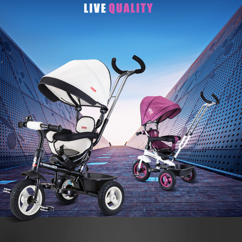 Hot Sell Seat 360 Degrees Rotated Baby Push Baby Stroller Multicolor Child Bike Commutatable Handle Kids Tricycle Free Drop Ship20