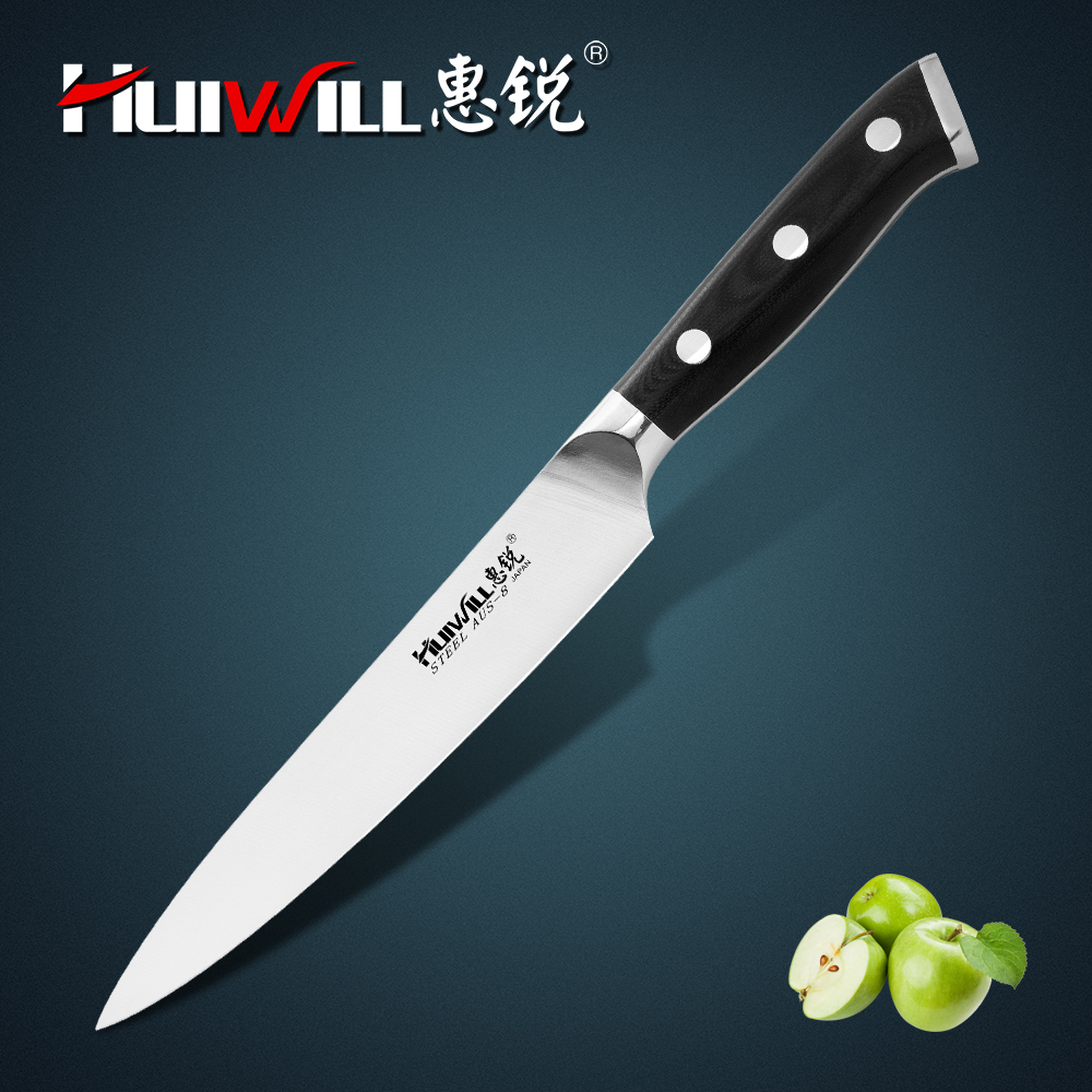 New!  Huiwill 4pcs Japanese  AUS-8 Stainless Steel Kitchen Chef Knife Carving Utility Knife Vegatable Knife Set
