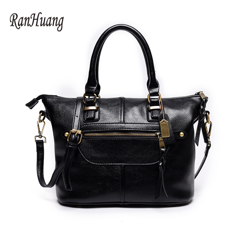ФОТО RanHuang Women Vintage Saffiano High Quality Split Leather Handbags Ladies Red Shoulder Bags Fashion Messenger Bags bolsa femini