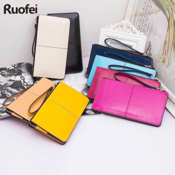 2017 Women wallets Candy Oil Leather Wallet Long Design Day Clutch Casual Lady Cash Purse Women Hand Bag Carteira Feminina A4