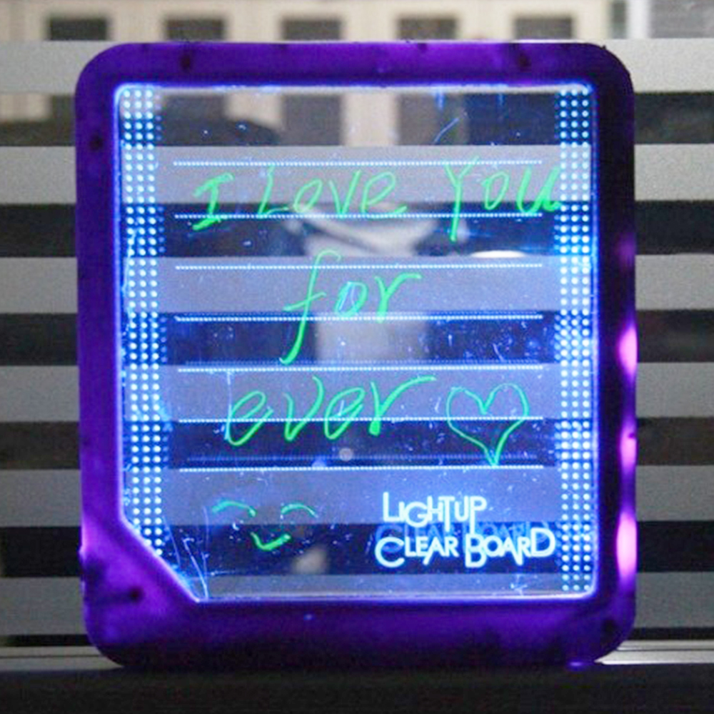 20psc/set 22X20 LED Display Writing Luminous Note Message board Glass Advertising Blackboard with Fluorescent pen Charger Wire writing