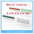 4 set for 40piceces Nozzle Cleaning 0.5mm/0.4mm/0.3mm/0.2mm Drill Bits with Case for 3D Printer  Makerbot Mendel Reprap