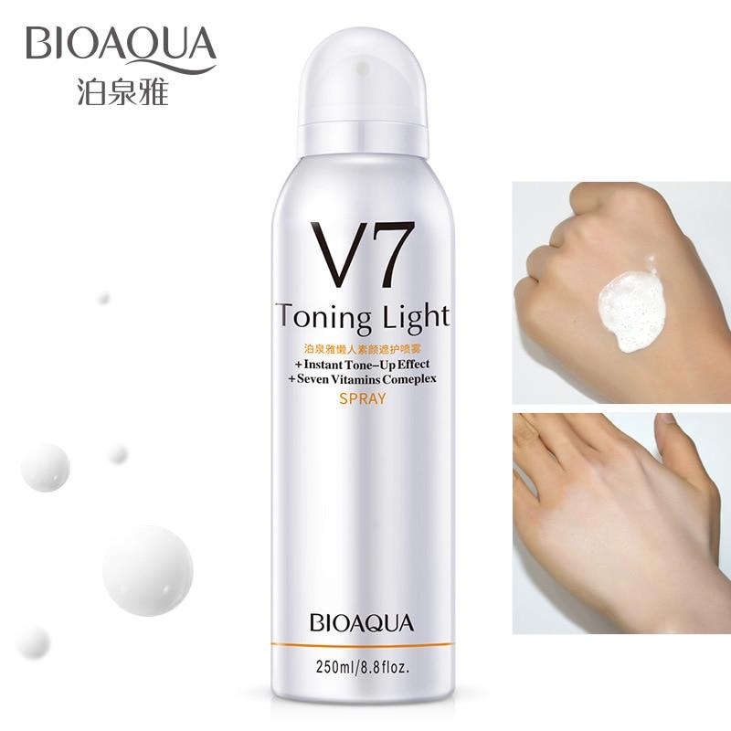 BIOAQUA V7 tonificación juventud luz diurna verano reposición hidratante corrector aerosol aislamiento protector vitamina atomización 250g