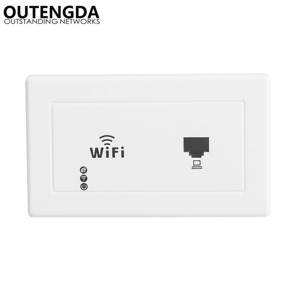 300Mbps 118 Us Standard Wall Mount Wireless AP Access Point Socket WiFi Range Repeater Extender Router For Hotel Office Rooms