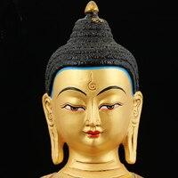 Специальное предложение 31 см большая оптовая продажа статуя Будды домашний зал компания эффективное позолоченное лекарство статуэтка Буд