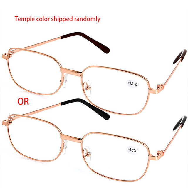 Metal Full Frame Hard Resin Lens Reading Glasses + 1.00 ~ 4.00 +