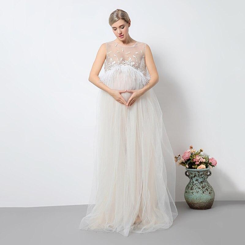 Новинка 2017 года Летний стиль платье для беременных Для женщин фотографии фантазии реквизит Платья для вечеринок для беременных кружевные п...