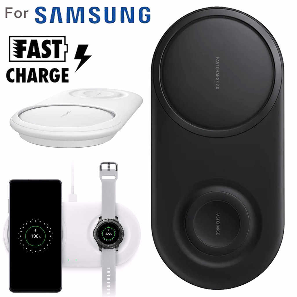 2 In 1 Fast Charging Wireless Charger Pad untuk Samsung Galaxy S10/S10 +/Menonton S2/3