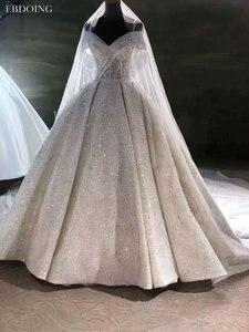 Image 3 - Vestidos De Novia Luxe Baljurk Trouwjurk Sweetheart Hals Korte Mouwen Lace Up Plus Size Wedding Groeien Bruid Jurk