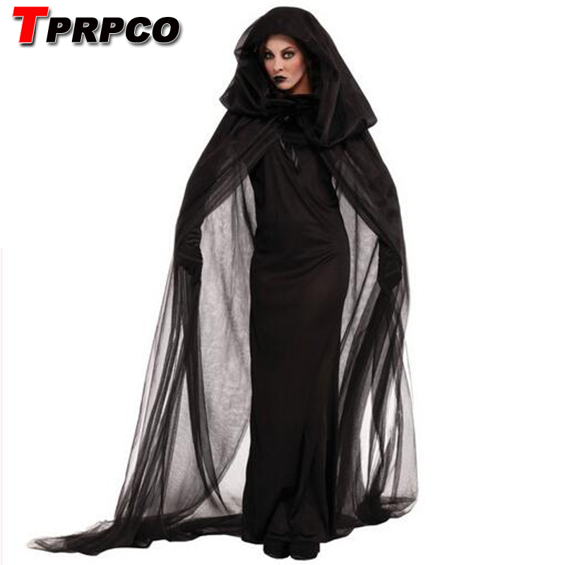 TPRPCO Gothic Witch Costume Halloween Sorceress Costume Adult Witch Fancy Dress Witch Wicked Cosplay NL171