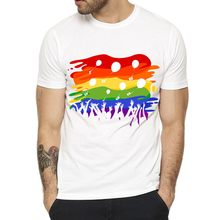 Gay T shirt Love Max Gay and Lesbian Couple T-Shirt Rainbow Short Sleeve Fashion Gay Lesbian T-Shirt(China)