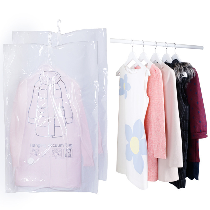 Can Hang Vacuum Bag Clothes Foldable Transparent Border Compression Organizer Pouch Sealed Storage Bags Save Space organizer in Storage Bags from Home Garden