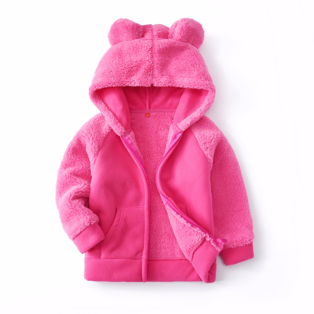 BibiCola Baby Girls Coat 2018 New Winter Faux Fur Fleece ...