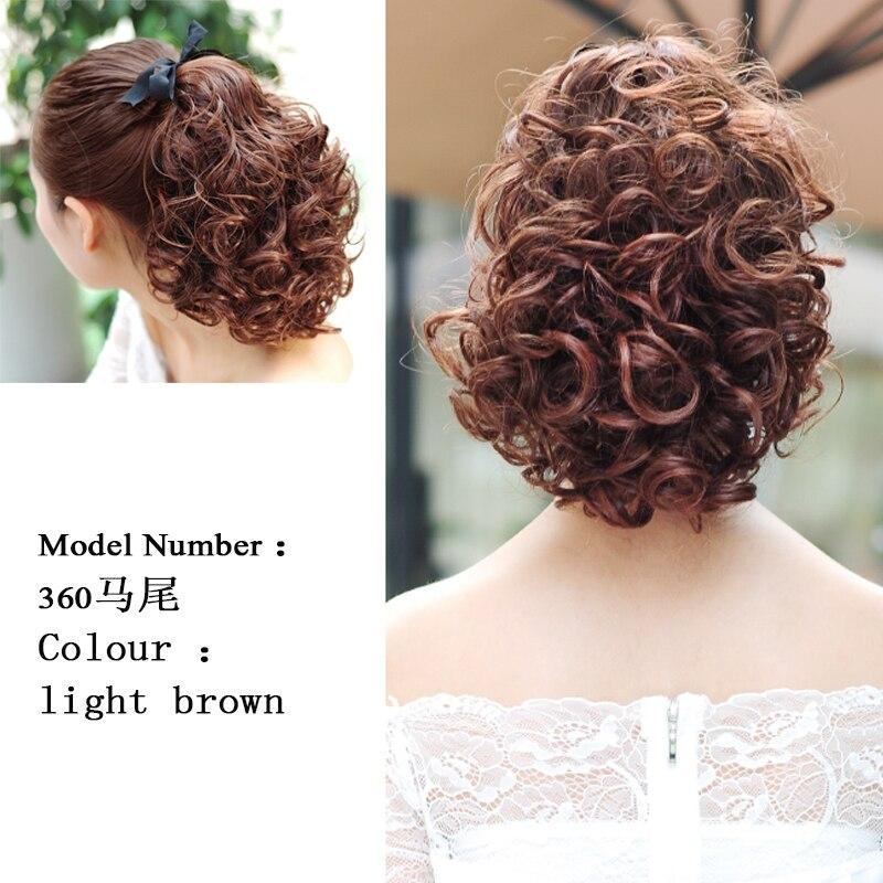 SHANGKE Short Clip Drawstring Curly Ponytail Hair Pieces - Syntetiskt hår - Foto 3
