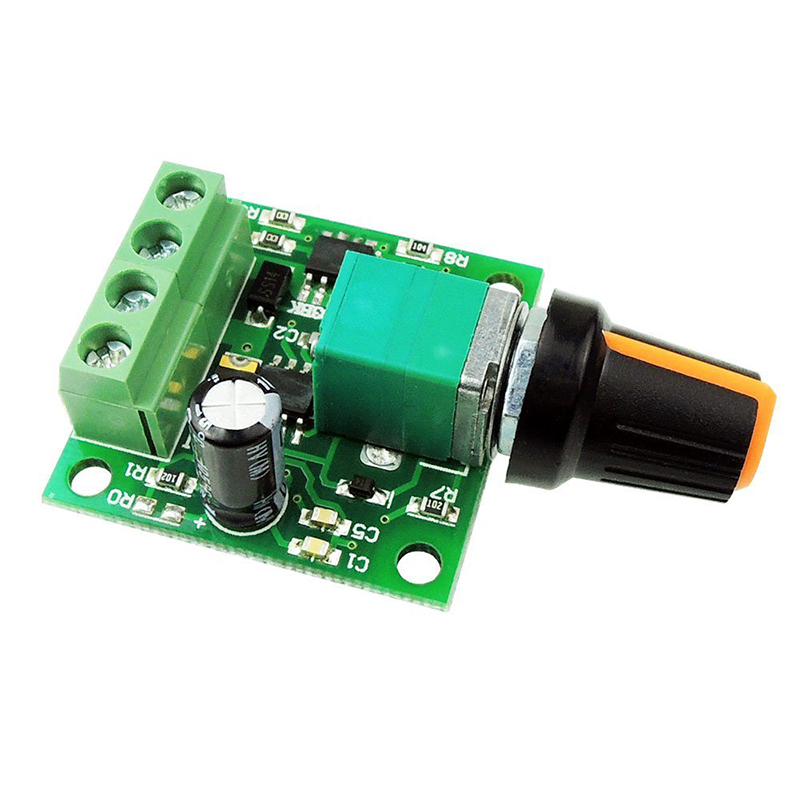 DC Motor Speed Regulator 1.8V, 3V, 5V, 6V, 12V, 2A, 30W Speed Control Switch Switches Function 1803BK Module Board