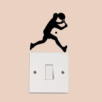 Теннисный плеер Модный домашний декоративный стикер на выключатель виниловая наклейка на стену 6SS0530