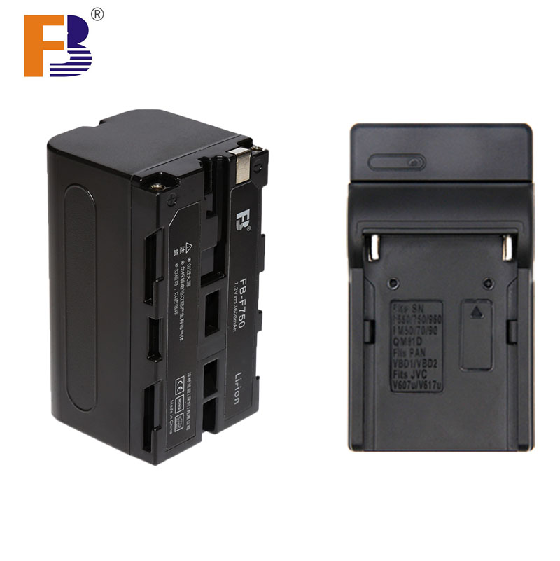 FB High Capacity 4400mAh F750 F770 F730 Camera Rechargeable Battery + Charger for Photographic Light