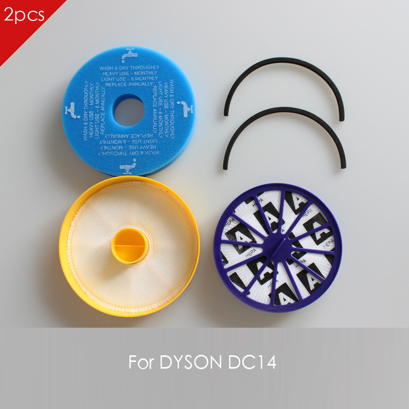 2 pack New HEPA FILTERS Replaces For DYSON motor DC14 Vacuums Cleaner Parts 2 pack new hepa filters replaces for dyson motor dc04 dc05 dc08 dc19 dc20 dc29 vacuums cleaner parts