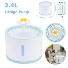 Fonte de água substituível filtro automático de gato, fonte de água muda ativada de carbono 2.4l fonte de água com cabo usb