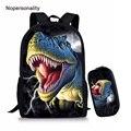 Школьная сумка Nopersonality Cool  комплект с сумкой динозавра Юрского периода  3d школьная сумка для мальчиков-подростков  школьные сумки для детей