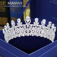 Роскошные невесты полный Циркон Корона корона аксессуары невесты свадебные украшения торжественное платье аксессуары женские аксессуары