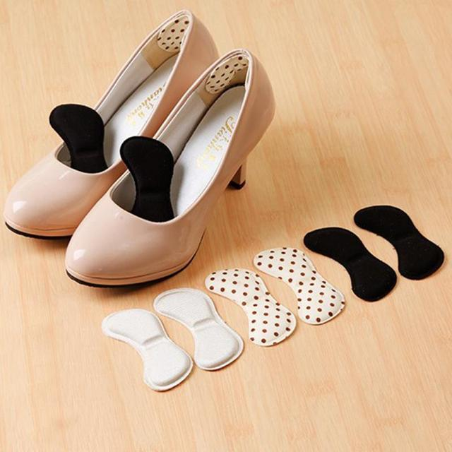 1 Pair 4D Soft memory foam Foot Care Tool New Sticky Fabric Shoe Back Heel Inserts Insoles Pads Cushion Liner Grip Pad