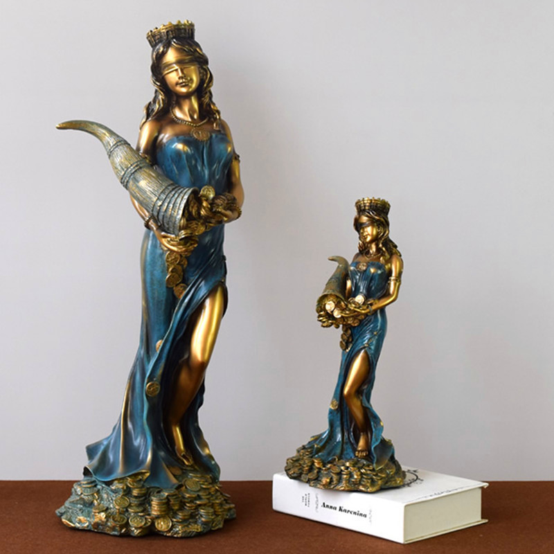 Creative Greek Mythology The Goddess Of Fortune Resin Craftwork Figure Sculpture Living Room Decoration G1455 greek mythology the legend of the gods western story book chinese edition