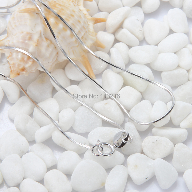 The new listing Beautiful necklaces 925 sterling Silver Promotion 18 inch beads 0845 Trendy Jewelry Recommend Rave reviews Punk