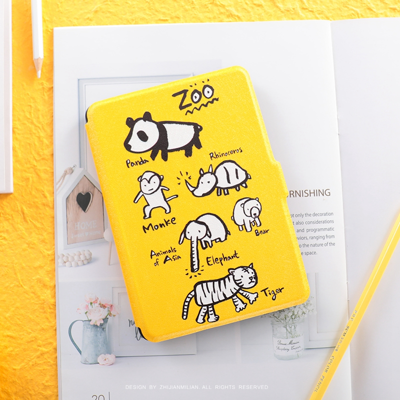 Zoo Yellow Paperwhite3 Magnet PU Flip Cover for Amazon Kindle Paperwhite 1 2 3 449 558 Case 6 inch Ebook Tablet Case COVER supermen sup print magnet pu flip cover for amazon kindle paperwhite 1 2 3 449 558 case 6 inch ebook tablet case leather case