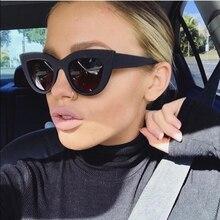 91562d75eb21e Espelho olho de gato preto dos óculos de sol das senhoras moda revestimento  fosco sombra shades Óculos de Sol para as mulheres m.