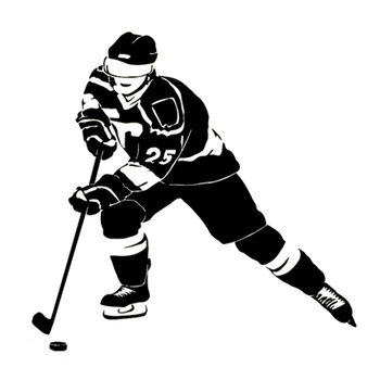 13.8CM*13.5CM Fashion Hockey Sport Silhouette Decal Vinyl Car Stickers Black/Silver Decoration S9-1170 image