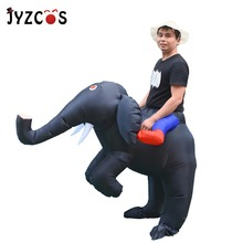 JYZCOS 2018 Fan Operated Elephant Inflatable Costume Adult Kid Outfits Halloween for Men Women Fancy Dress Party Cosplay