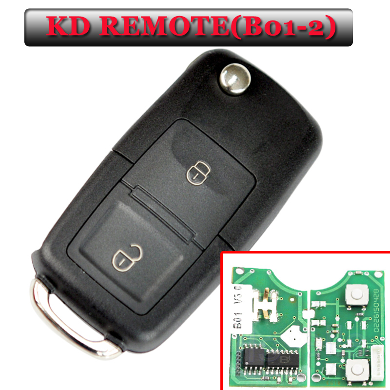 شحن مجاني B01 2 زر kd remote for vw style remote key لآلة KD900 (KD200) (قطعة واحدة)