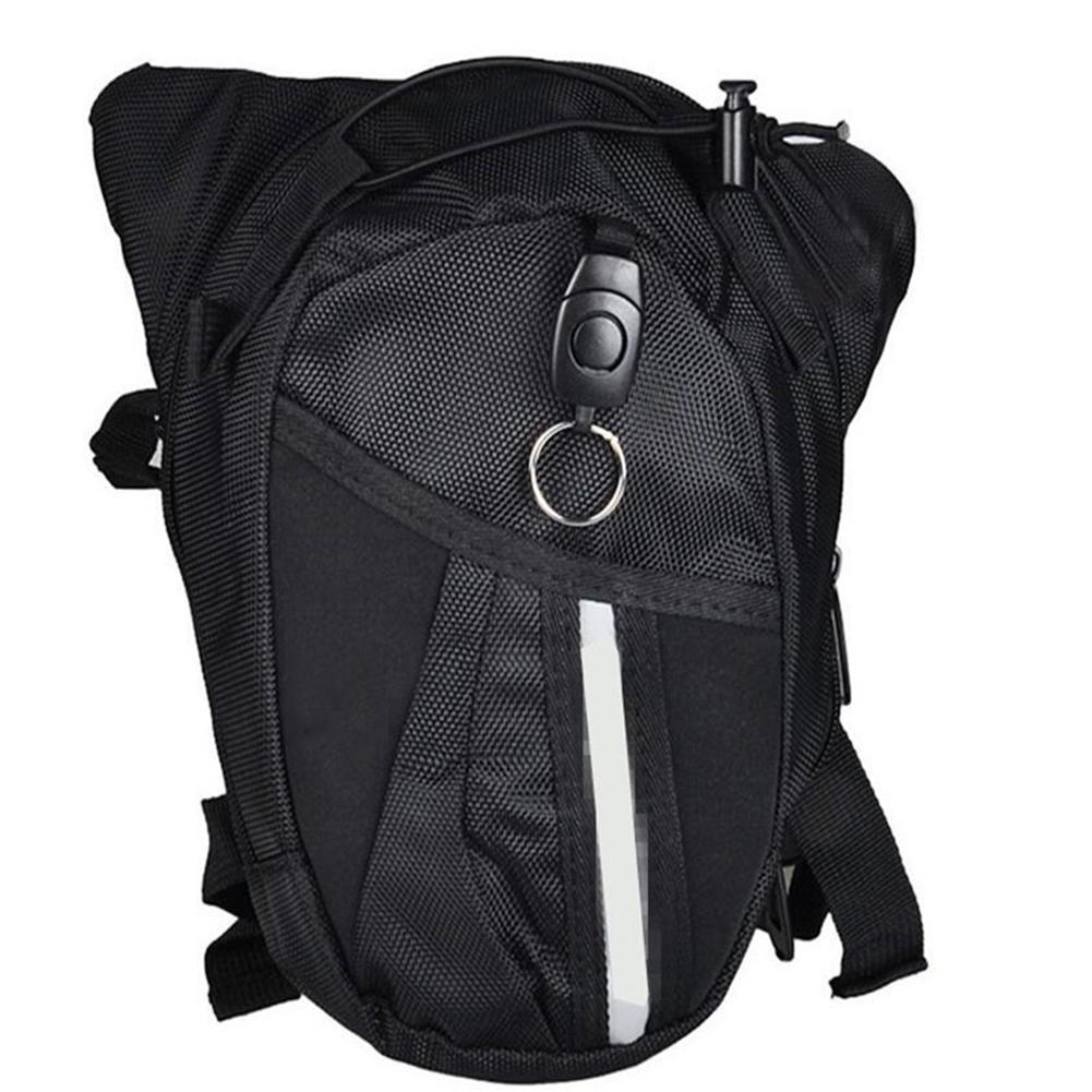 Men Outdoor Nylon Polyester Black Drop Leg Waist Bag Crossbody Chest Pouch Fanny Pack
