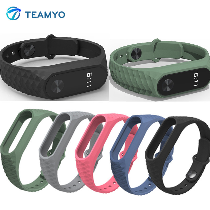 Galleria fotografica Teamyo Xiaomi Mi Band 2 Replacement Strap For Xiomi Miband 2 Bracelet Belt Strap miband2 Smart Bracelet Wristband Accessories