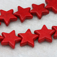 Star Shape Turquoise Loose Beads 20mm 15 Inch 2pc Lot DIY Fit Women Jewelry Accessory Five