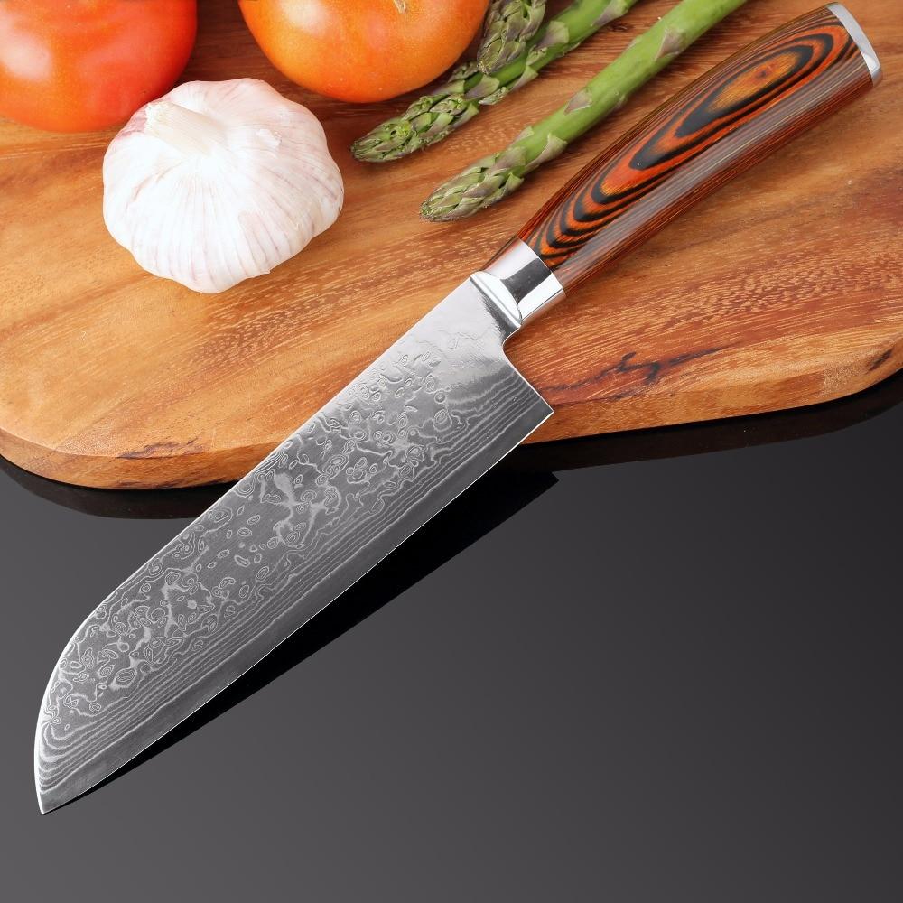 XITUO 4 piezas cuchillos de cocina Japane de acero de Damasco cuchillo Chef deshuesado de cocina de madera de Color manejar fácilmente la mejor familia regalo herramienta-in Conjuntos de cuchillos from Hogar y Mascotas    3