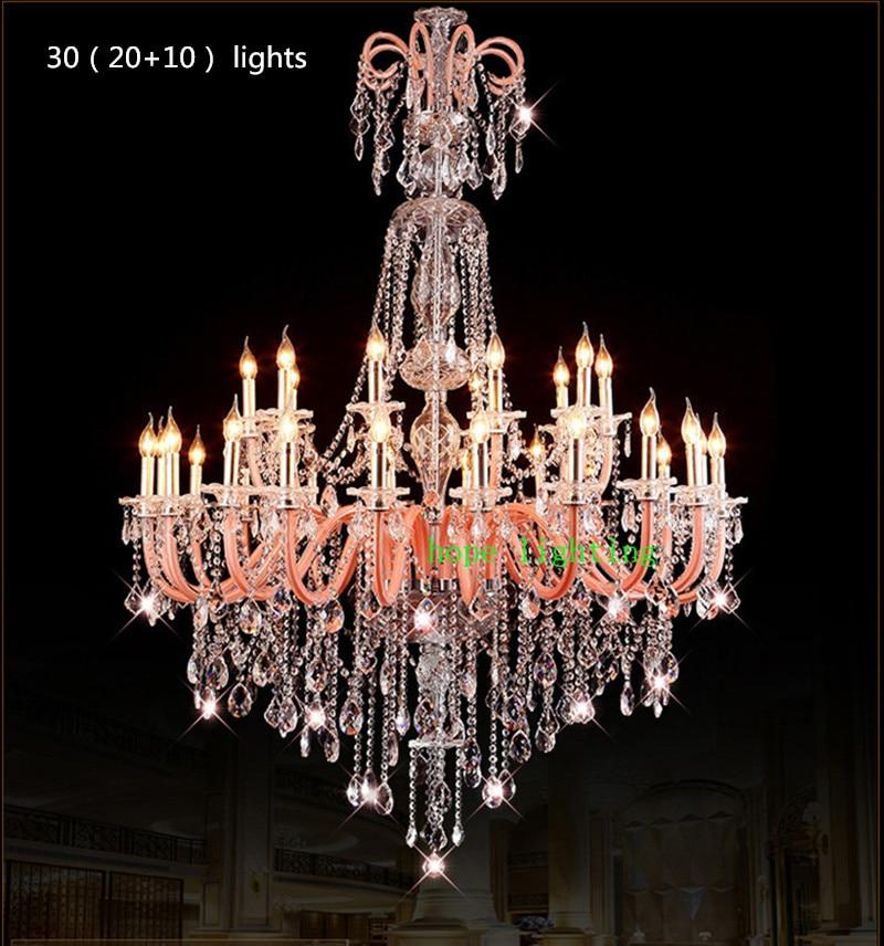 Rózsaszín nagy 30-45 lámpás templomos függő csillár lámpa - Beltéri világítás - Fénykép 6