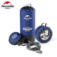 Naturehike 11L Outdoor Camping Shower Water Bag Portable Foldable PVC Hiking BBQ Travel Bath Shower Washing Cars Storage Bag
