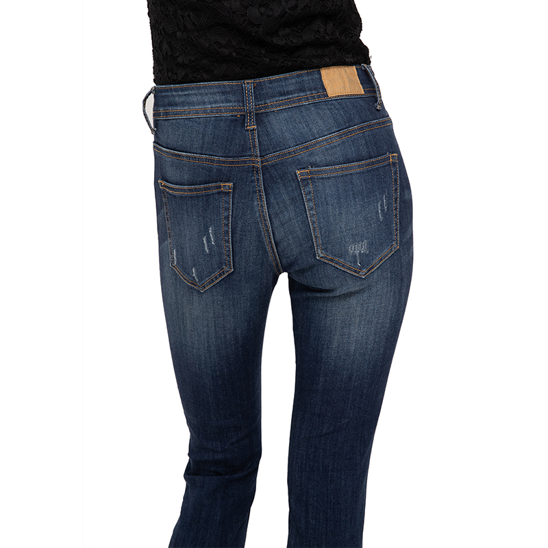 My Will Jeans Mid-Rise Tight-Fitting High-Elastic Cotton Denim Pop Jeans7125 Made In China