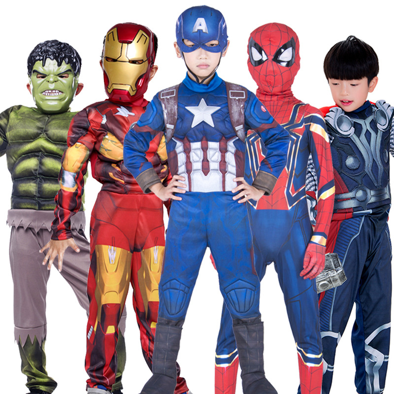 Halloween Children's Day Cosplay Costume Iron Man Spiderman Wonder-Woman Kid's Carnival Performance Costume Funny Clothes