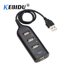 Kebidu Mini USB 2.0 Hallo-Speed 4 Port USB Hub Splitter Hub Adapter Für PC Computer Für Tragbare Festplatten(China)