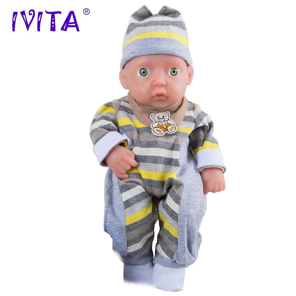 IVITA WB1503 0.85kg Muñecas de silicona de alta calidad Reborn Baby Alive Born Munecas Bath Boy realista para los juguetes de la familia Dink