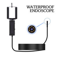 3.5M 8mm Endoscope Camera Flexible IP67 Waterproof Inspection Borescope Camera For Android PC Notebook 6LEDs Adjustable