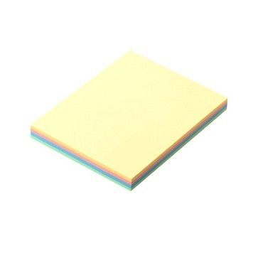 1 pack 100 sheets memo pads stickers self-adhesive sticky notes 4 Colors post it office and business Deli 9082