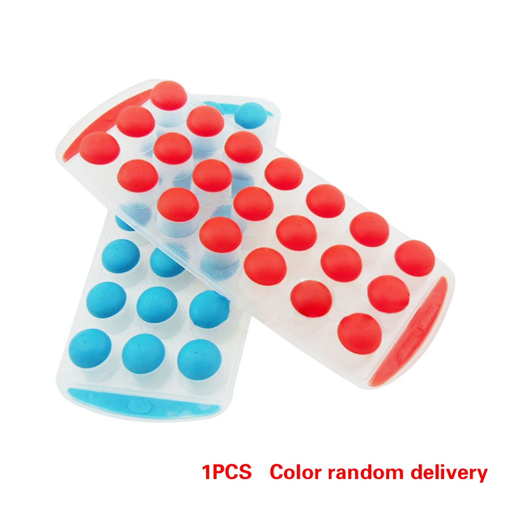 21 Balls Dots Plastic Silicone Ice Fusion Mold Cube Lattice Tray Ice-making Box Kitchen Cooking Tool
