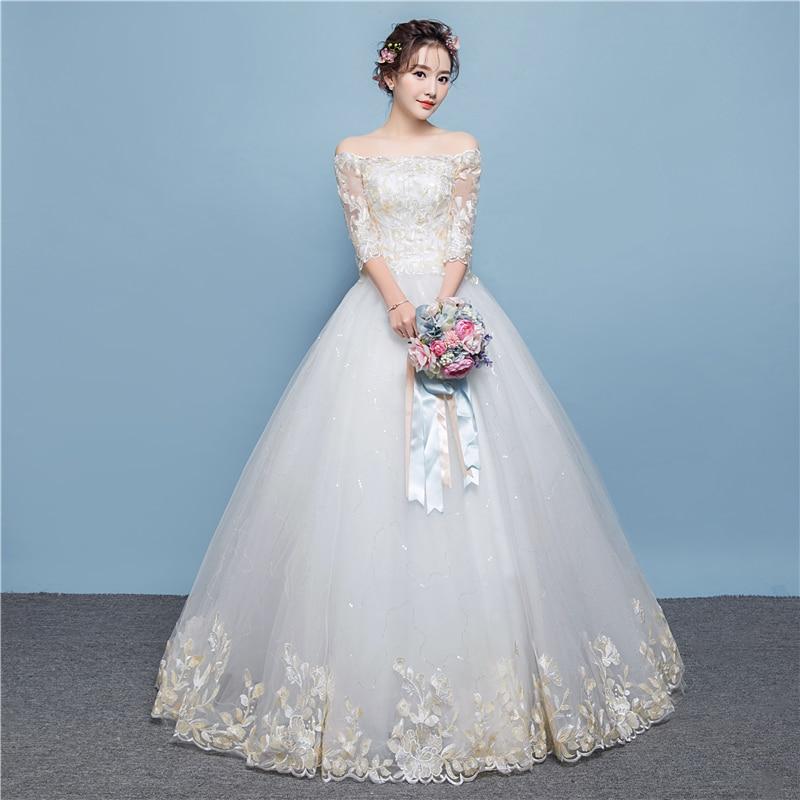 Charming A Line vestido de noiva Wedding Dress Full Delicacy Flower ...