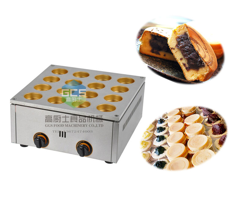 free shipping~ 16  hole GAS type  bean cake machine,bean cake maker  Dorayaki machine  free shipping gas type 16 hole layer cake machine pattern in bottom waffle machine