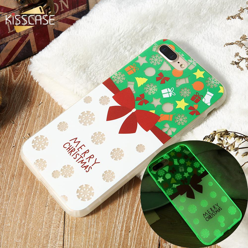 Iphone 6 Plus Christmas Case.Luminous Phone Case For Iphone X 8 7 6s 6 Plus Christmas Patterned Cases For Iphone 6 6s 7 8 Plus X 10 Soft Tpu Cover