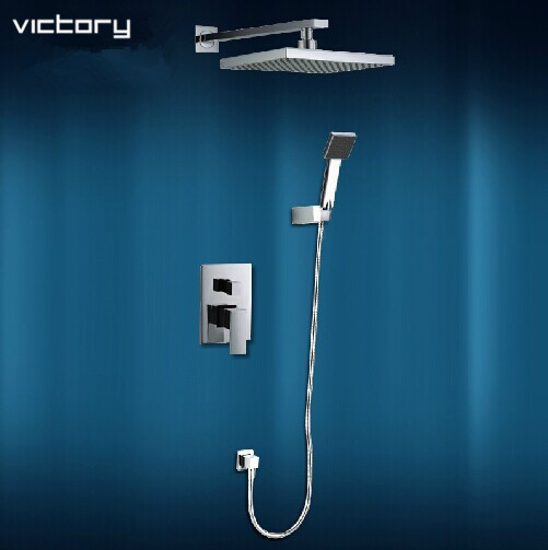 concealed shower set hot and cold shower mixer bathroom mixing valve bath shower mixer bath shower faucet set bathroom set 3 tap connect 3 4 5 gear screw thread thermostatic faucet valve shower room mixing valve cold and hot water switch separator